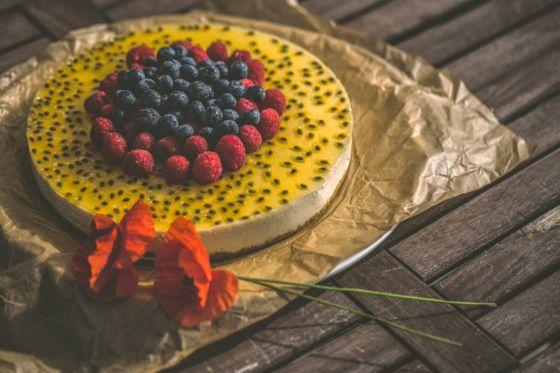 עוגת גבינה פסיפלורה