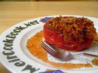פלפל ממולא בסיר בישול איטי