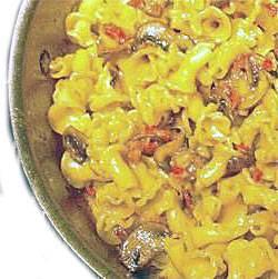 פסטה בשמנת עם בטטה ופטריות