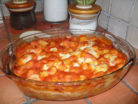 ניוקי ברוטב עגבניות אפוי