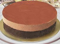 עוגת מוס שוקולד מריר ונוגט