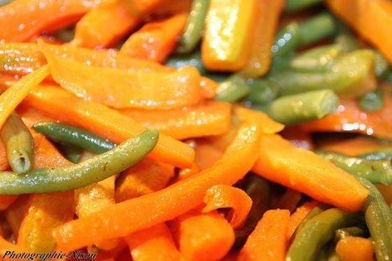 תבשיל שעועית ירוקה וגזר