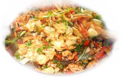 ירקות עם בשר מוקפץ בסגנון סיני