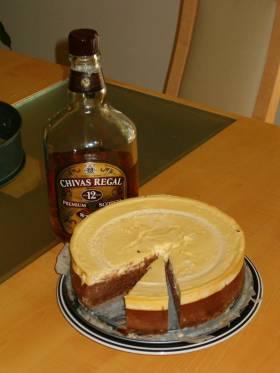 עוגת גבינה שוקולד בננות