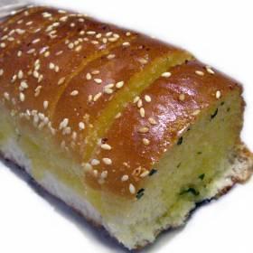 לחם שום / ספוג, ללא לישה