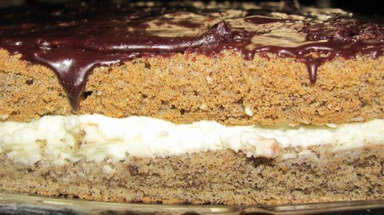 עוגת פרג, קרם וציפוי שוקולד