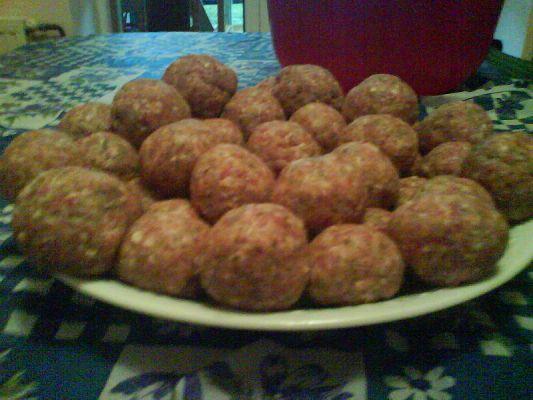 כדורי בשר ברוטב פטריות ובטטה
