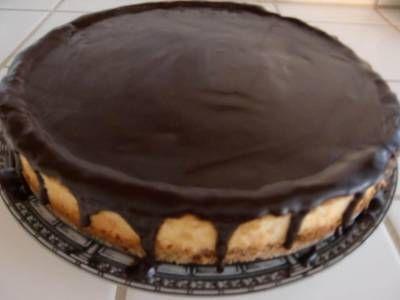 עוגת גבינה תפוחים בציפוי שוקולד