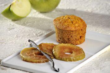 מאפינס דבש עם תפוחים מוקרמים