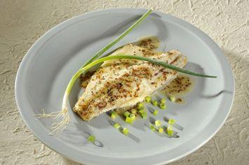 דגים ברוטב שמנת, דבש, חרדל ותימין