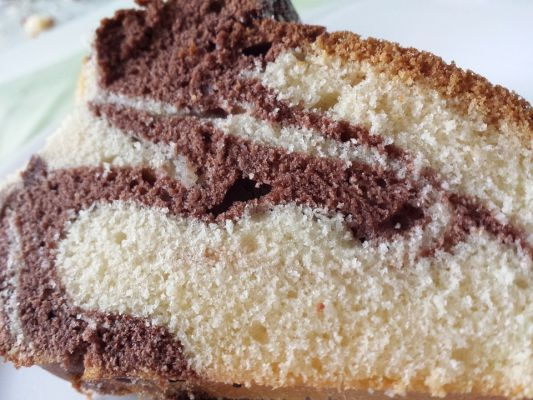עוגת שייש בננה ושוקולד