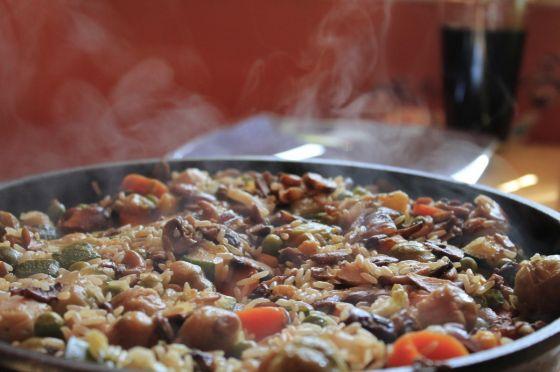 ארוחת אורז במחבת
