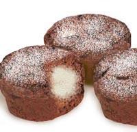 עוגות שוקולד במלית גבינה