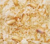 תבשיל אורז, איטריות פסטה ושקדים