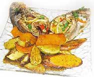 דגים ממולאים בירקות ועשבי תיבול
