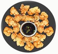 טמפורה עוף עם ירקות